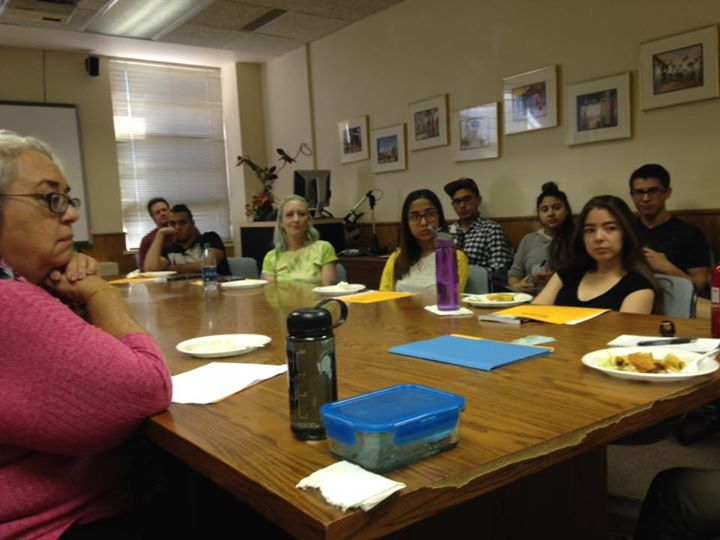 Lois Holzman talks to the UTEP Liberal Arts Honors Program students. First event of her visit!
