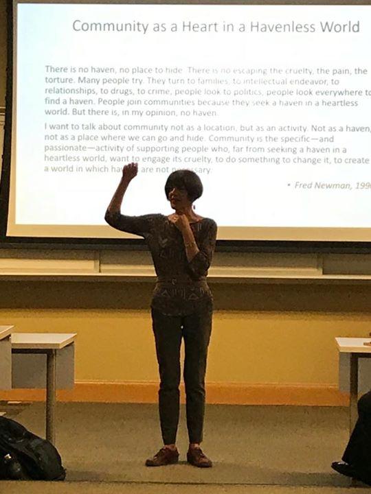 """Creating Communities of Hope"" a talk by Lois Holzman. Very inspiring."